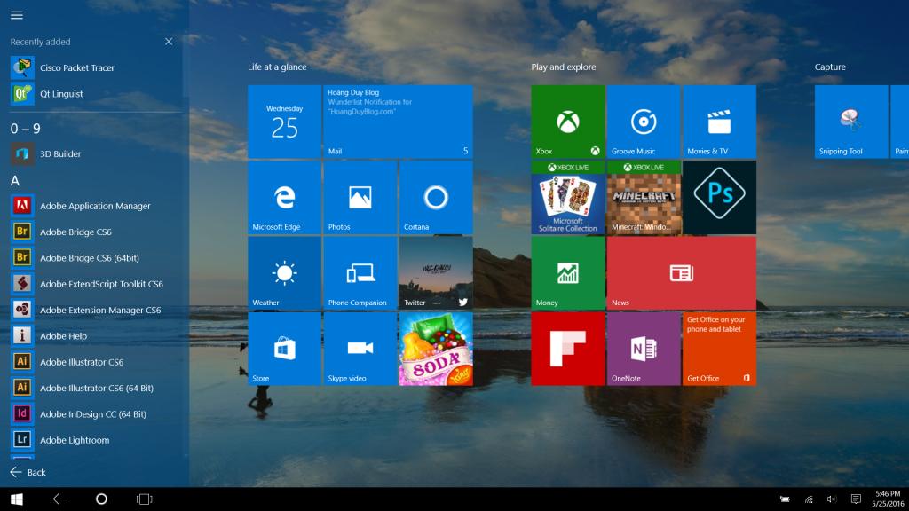 Và bây giờ bạn có thể sử dụng Windows 10 trên máy tính của mình