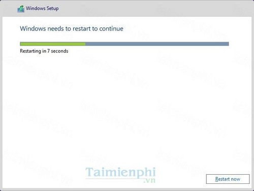 Bước 9: Sau khi đã cài đặt xong thiết bị sẽ khởi động lại và quay trở lại màn hình thiết lập lần đầu sử dụng