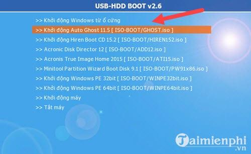 Bước 4: Giao diện phần mềm hiện lên, chọn khởi động Auto Ghost 11.5 để tiếp tục.