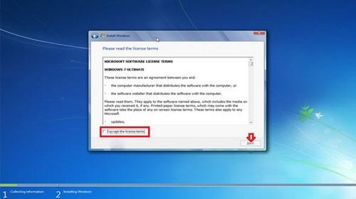 Bước 5: Cửa sổInstall Windowshiện ra bao gồm 2 lựa chọn chính cho bạn là