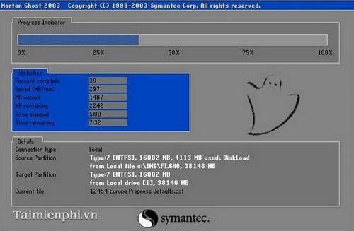Bước 4:Khi có thông báo bạn ClickYesđể khởi động máy tính và quá trình sao lưu sẽ được diễn ra.