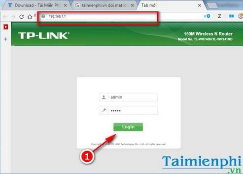 Bước 1: Đăng nhập vào trang cấu hình modem, router TP-Link bằng cách nhập địa chỉ sau lên thanh địa chỉ của trang web bất kỳ.