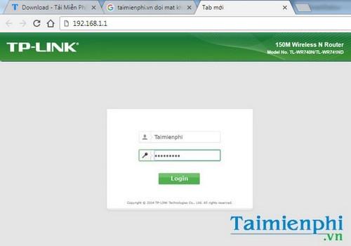 Nhấn Save để lưu lại tên đăng nhập và mật khẩu mới.