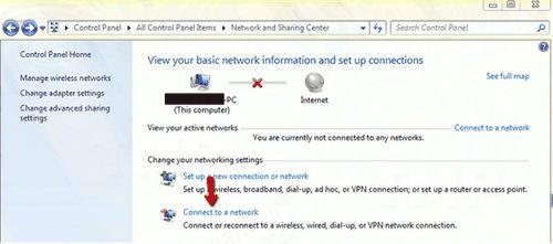 Bước 3: Quay trở lại cửa sổ Network and Sharing Center, tìm và click chọn Connect to a network. Sau đó chọn kết nối mạng Wifi của bạn từ danh sách.