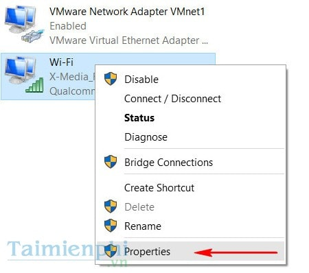 Bước 7:Chuyển sang tabSharing, click vàoAllowvà chọnHome networking connection, đây chính là wifi chúng ta vừa tạo xong. Sau đó clickOKđể bắt đầu phát wifi trên windows 10