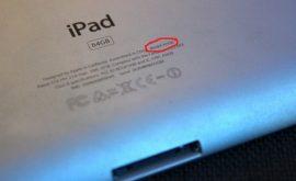 Cách xem đời Ipad nhanh trực tiếp trên lưng máy Ipad