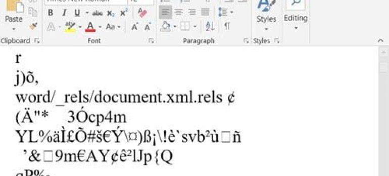 Cách sửa lỗi file Word bị mã hóa
