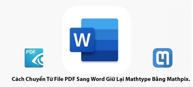 chuyển đổi pdf sang word không làm thay đổi công thức toán học