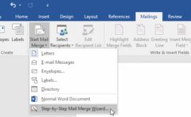 Hướng dẫn mail merge word 2016