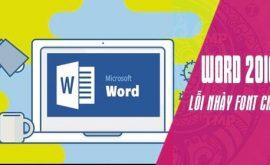 Cách sửa lỗi nhảy font chữ trong Word 2016