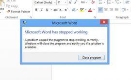 Cách sửa và khắc phục lỗi Microsoft Word has stopped working