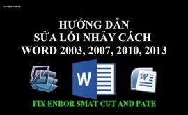 Khắc phục lỗi cách chữ trong word 2003,2007,2010,2013