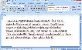 LỖI WORD 2007