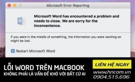 Sửa lỗi macbook không mở được file word