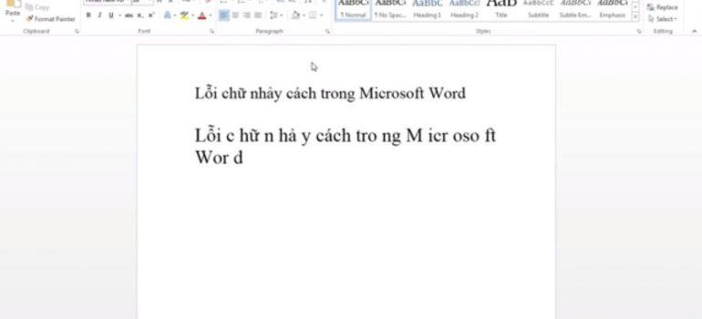 Cách sửa lỗi nhảy chữ trong word 2007,2010