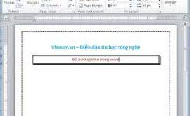 Cách xóa khung và đường viền trong Word