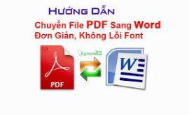 Hướng dẫn download phần mềm chuyển pdf sang word không lỗi font