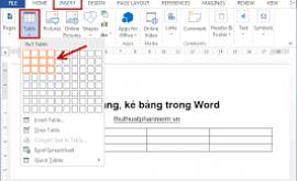 cách tạo thêm bảng trong word