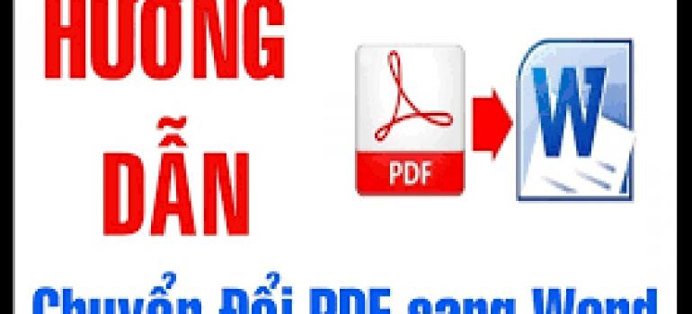 hướng dẫn cách chuyển đổi đuôi file pdf sang file word