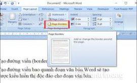 hướng dẫn tạo khung trong word 2003