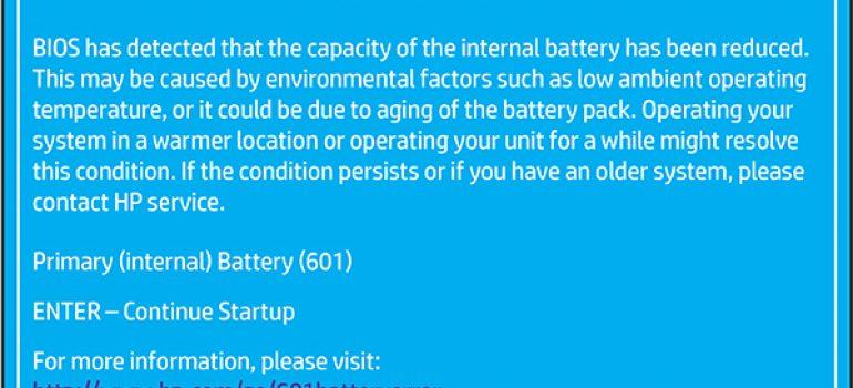 khắc phục lỗi hp battery alert