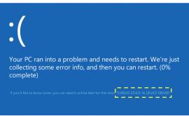 nguyên nhân lỗi màn hình xanh